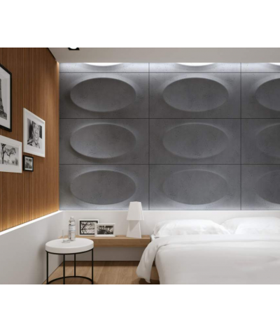 VT - PB08 (S95 jasny szary 'gołąbkowy') ELIPSA - panel dekor 3D beton architektoniczny
