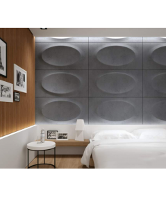 VT - PB08 (S95 light gray - dove) ELLIPSE - 3D architectural concrete decor panel