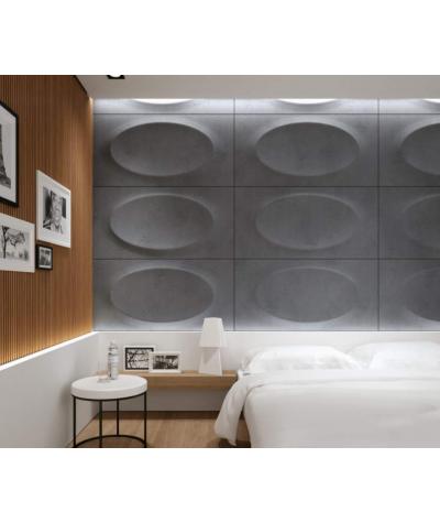 VT - PB08 (S96 ciemny szary) ELIPSA - panel dekor 3D beton architektoniczny