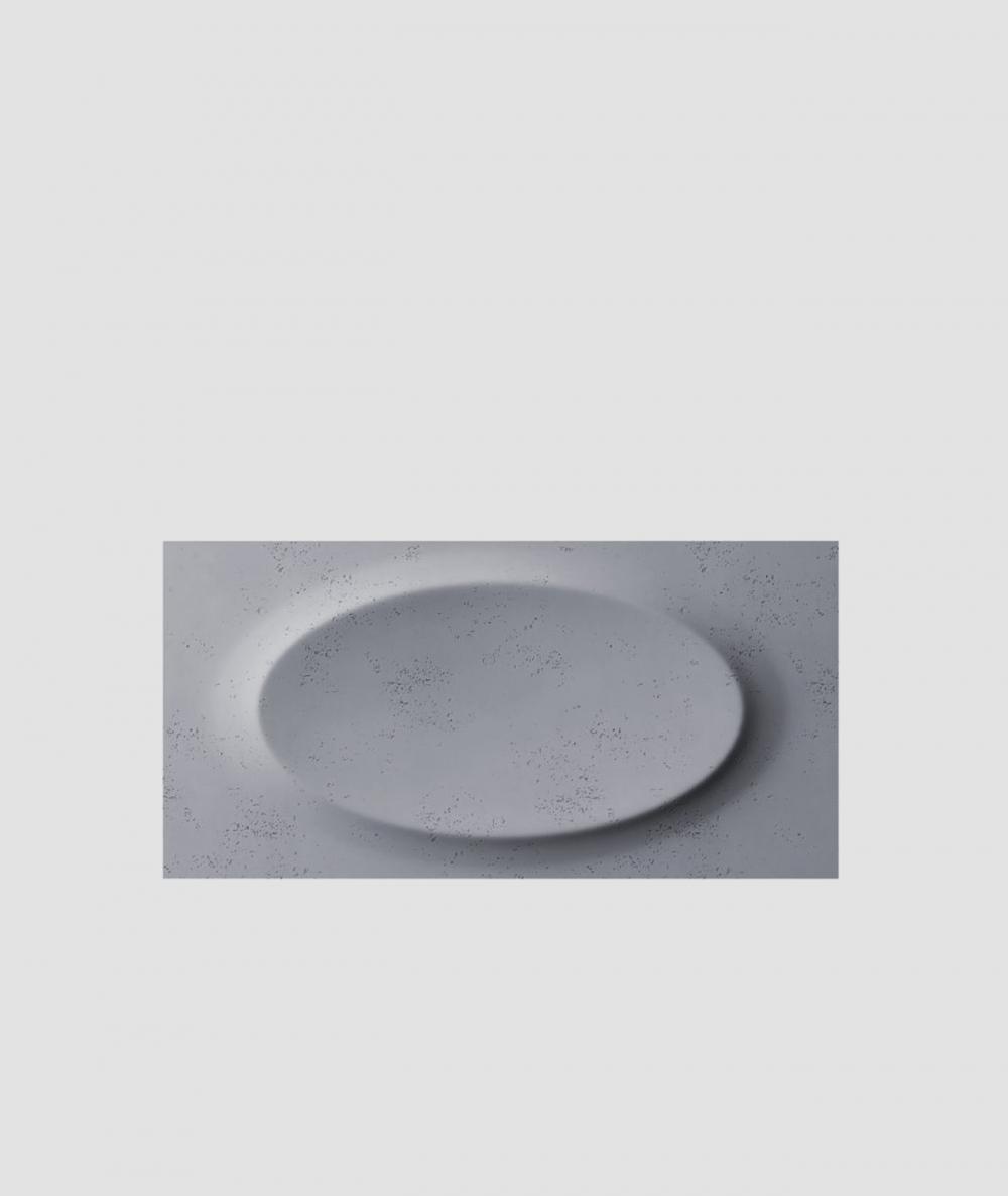PB08 (B8 anthracite) ELLIPSE - 3D architectural concrete decor panel