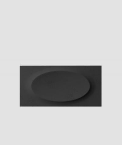 PB08 (B15 black) ELLIPSE - 3D architectural concrete decor panel
