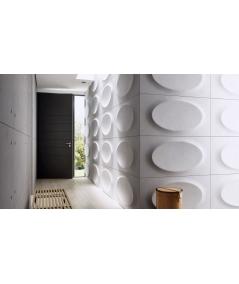 PB08 (BS snow white) ELLIPSE - 3D architectural concrete decor panel