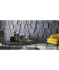 PB09 (S50 light gray 'mouse') MOSAIC - 3D architectural concrete decor panel