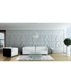 VT - PB09 (S51 dark gray - mouse) MOSAIC - 3D architectural concrete decor panel