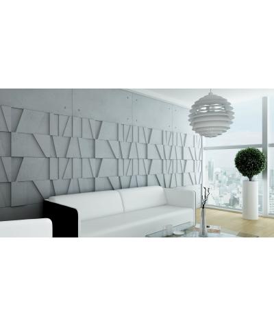VT - PB09 (S95 light gray - dove) MOSAIC - 3D architectural concrete decor panel