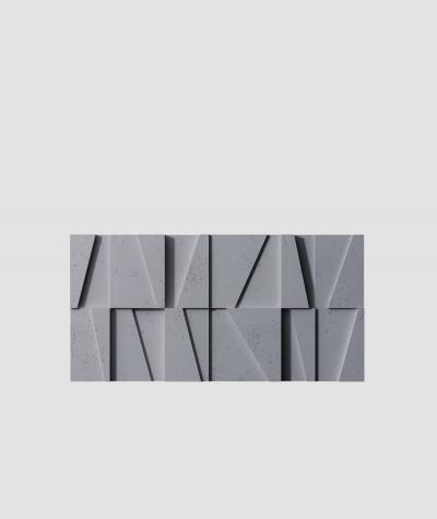 PB09 (B8 anthracite) MOSAIC - 3D architectural concrete decor panel