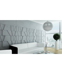 VT - PB09 (BS snow white) MOSAIC - 3D architectural concrete decor panel