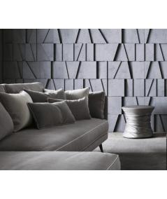 VT - PB09 (BS śnieżno biały) MOZAIKA - panel dekor 3D beton architektoniczny