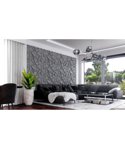 PB34 (S50 light gray 'mouse') BOTANICAL - 3D architectural concrete decor panel
