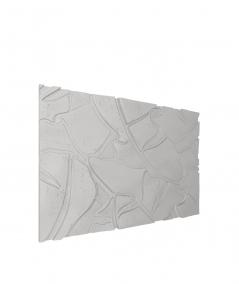 PB34 (S51 dark gray 'mouse') BOTANICAL - 3D architectural concrete decor panel