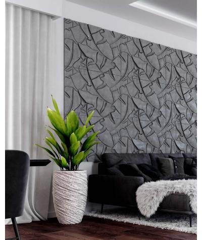 PB34 (B8 anthracite) BOTANICAL - 3D architectural concrete decor panel