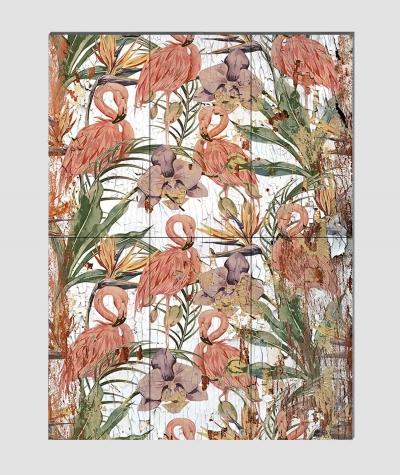 GF - (flamingi) - 6 piankowych paneli akustycznych