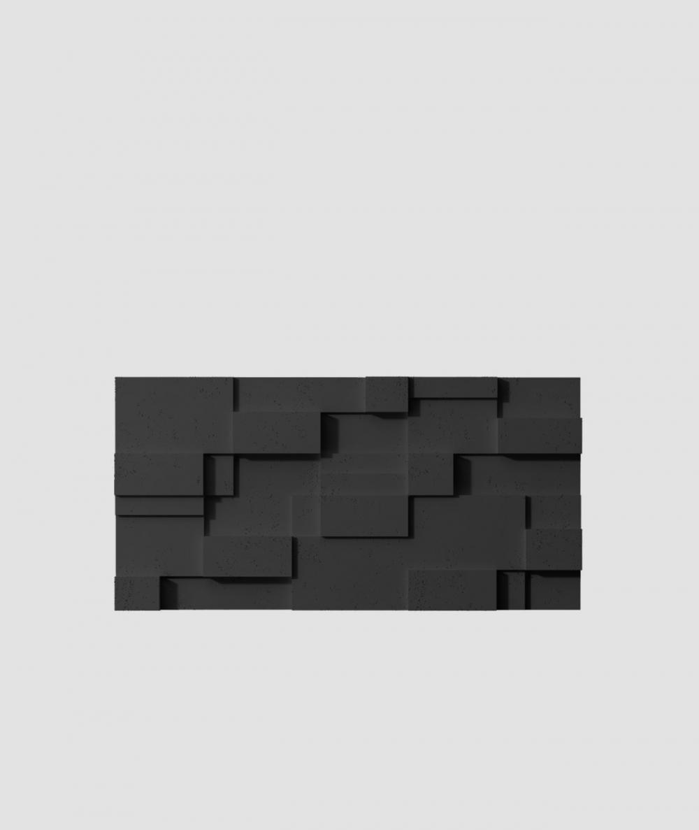 VT - PB11 (B15 czarny) CUB - panel dekor 3D beton architektoniczny