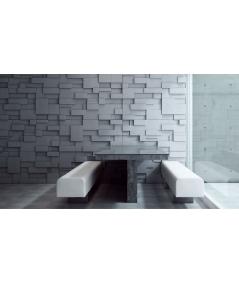 VT - PB11 (BS śnieżno biały) CUB - panel dekor 3D beton architektoniczny