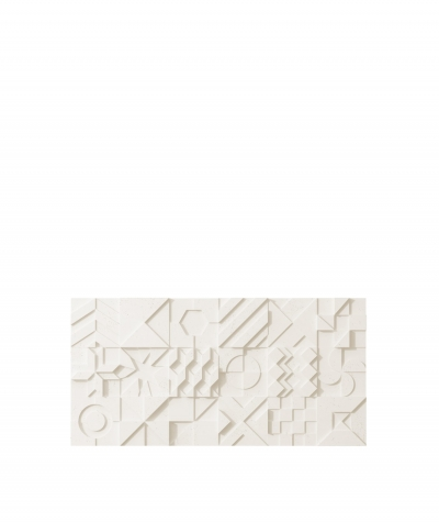 VT - PB12 (B0 biały) IKON - panel dekor 3D beton architektoniczny