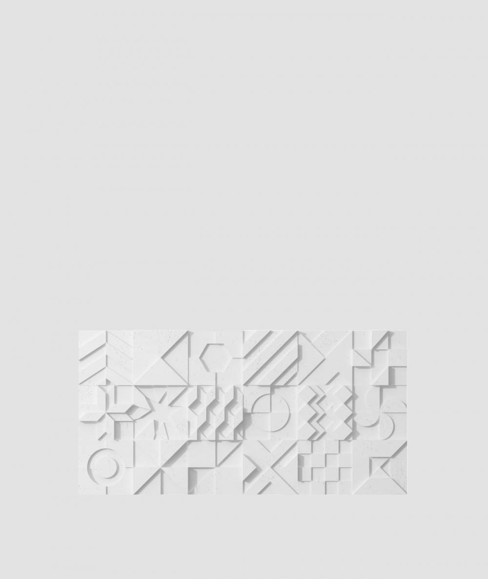 VT - PB12 (B1 siwo biały) IKON - panel dekor 3D beton architektoniczny