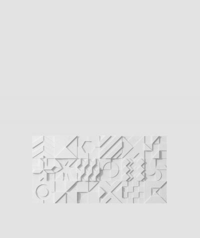 PB12 (S50 light gray 'mouse') IKON - 3D architectural concrete decor panel