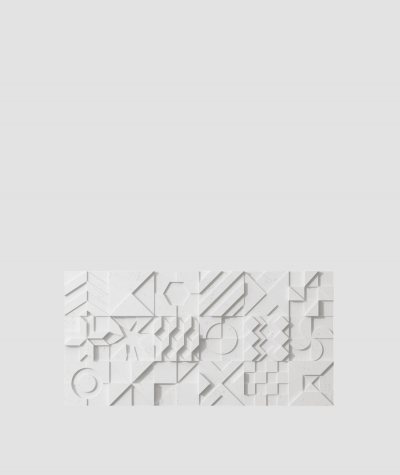 PB12 (S95 light gray 'dove') IKON - 3D architectural concrete decor panel
