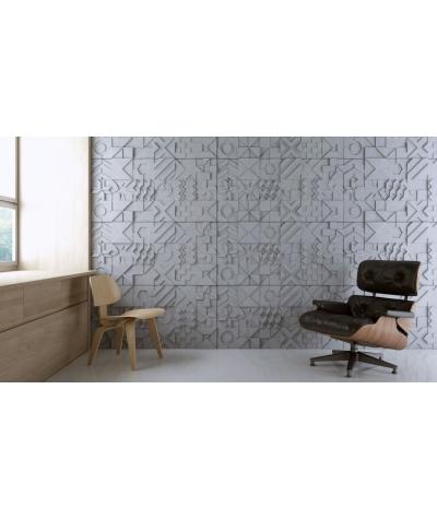 PB12 (S96 dark gray) IKON - 3D architectural concrete decor panel