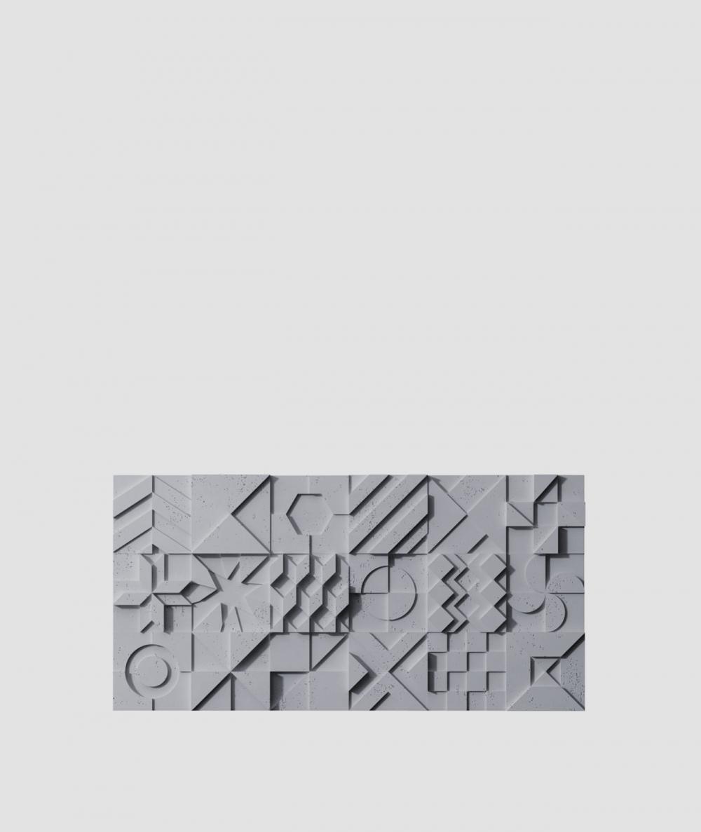VT - PB12 (B8 antracyt) IKON - panel dekor 3D beton architektoniczny
