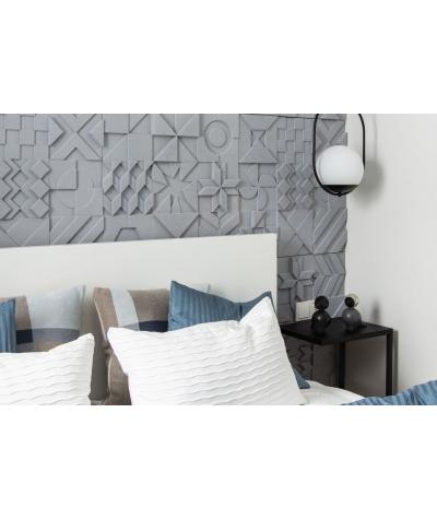 VT - PB12 (BS śnieżno biały) IKON - panel dekor 3D beton architektoniczny