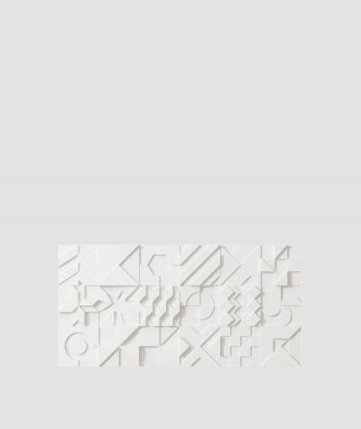 PB12 (BS snow white) IKON - 3D architectural concrete decor panel