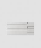 VT - PB13  (S95 jasny szary 'gołąbkowy') KOD - panel dekor 3D beton architektoniczny