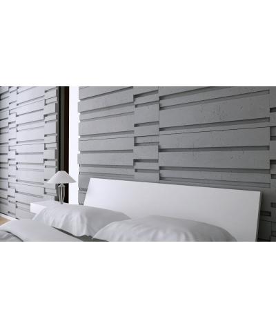 VT - PB13 (S96 ciemny szary) KOD - panel dekor 3D beton architektoniczny