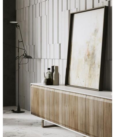 PB13 (BS snow white) KOD - 3D architectural concrete decor panel