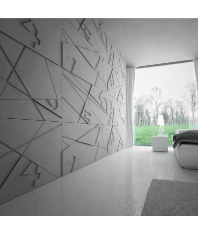 PB14 (S50 light gray 'mouse') GRAF - 3D architectural concrete decor panel
