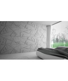 VT - PB14 (BS śnieżno biały) GRAF - panel dekor 3D beton architektoniczny