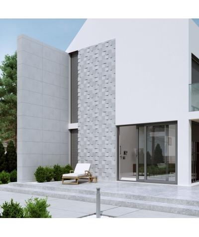 VT - PB16 (S95 light gray - dove) COCO 2 - 3D architectural concrete decor panel