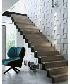 PB16 (S96 dark gray) COCO 2 - 3D architectural concrete decor panel