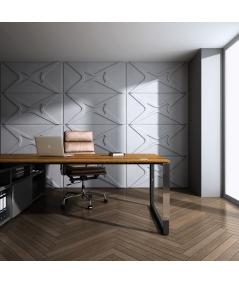 PB17 (S50 light gray 'mouse') MODULE X - 3D architectural concrete decor panel