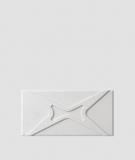 VT - PB17 (S95 jasny szary - gołąbkowy) MODUŁ X - panel dekor 3D beton architektoniczny