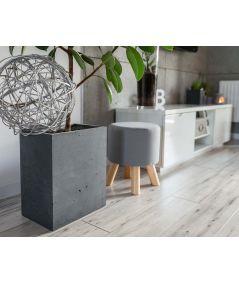 Concrete flower pot (gray)
