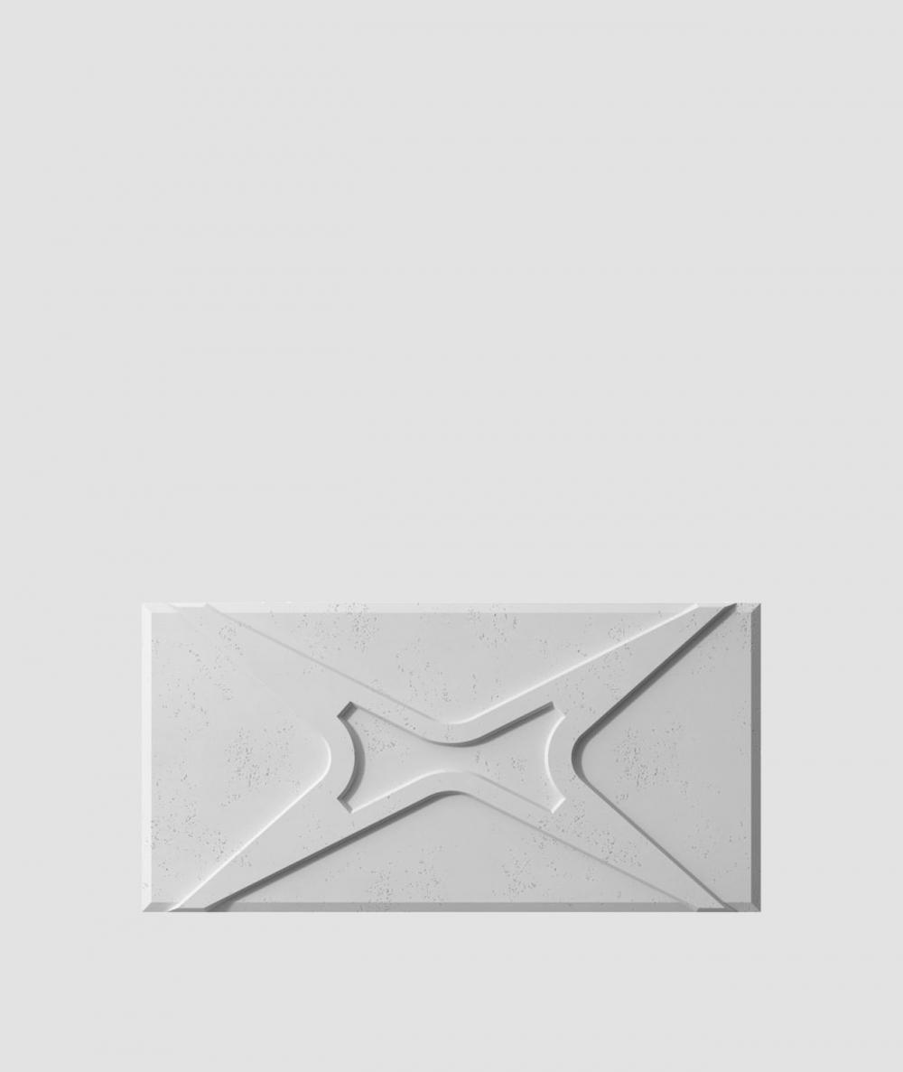 VT - PB17 (S96 ciemny szary) MODUŁ X - panel dekor 3D beton architektoniczny