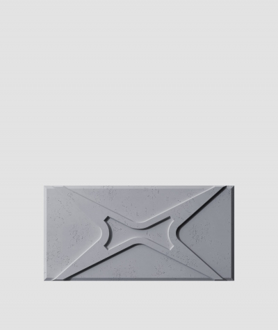 PB17 (B8 anthracite) MODULE X - 3D architectural concrete decor panel
