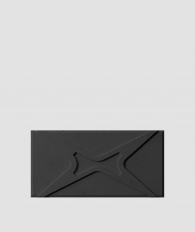 VT - PB17 (B15 czarny) MODUŁ X - panel dekor 3D beton architektoniczny