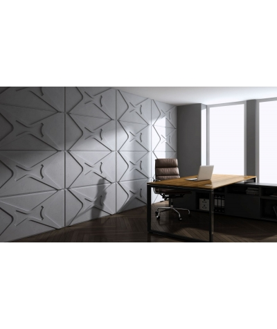 PB17 (BS snow black) MODULE X - 3D architectural concrete decor panel