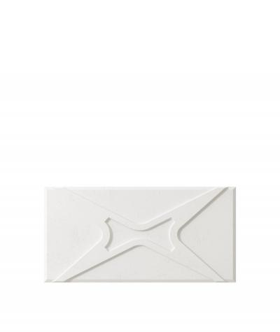 VT - PB17 (BS śnieżno biały) MODUŁ X - panel dekor 3D beton architektoniczny