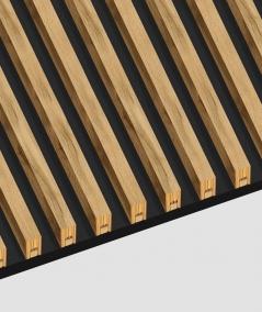 GD - (16 lameli, antracyt) - Lamele dekoracyjne na płycie