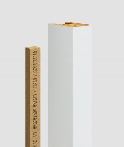 GD - (8 lamellas, matte white) - Decorative lamellas on the board