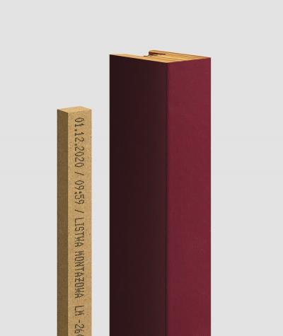 GD - (16 lamellas, mexican burgundy) - Decorative lamellas on the board