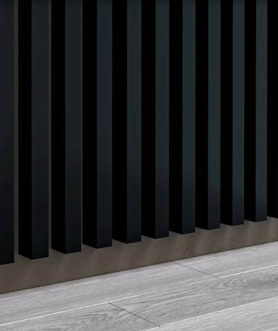 GD - (8 lamellas, matte black) - Decorative lamellas on the board