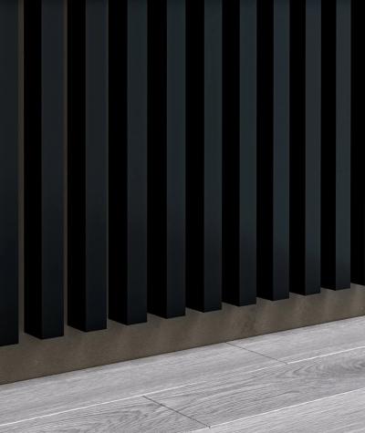 GD - (16 lameli, czarny matowy) - Lamele dekoracyjne na płycie