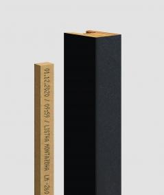 GD - (16 lamellas, matte black) - Decorative lamellas on the board