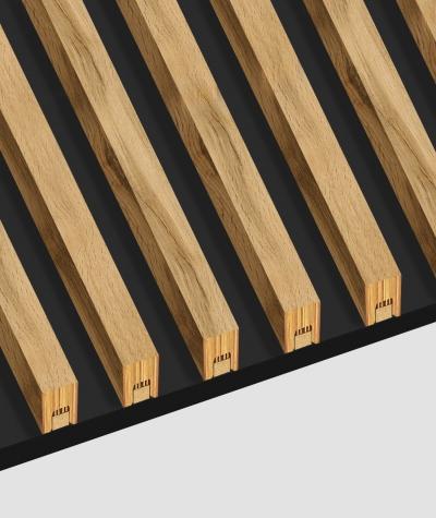 GD - (8 lamellas, bleached oak) - Decorative lamellas on the board