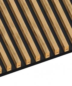 GD - (16 lamellas, bleached oak) - Decorative lamellas on the board