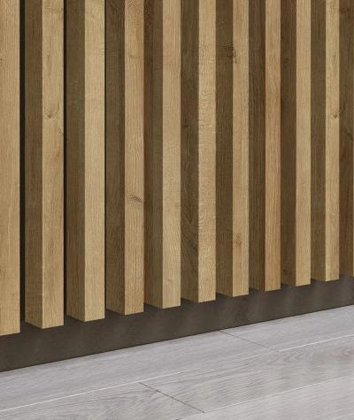 GD - (16 lamellas, riviera oak) - Decorative lamellas on the board